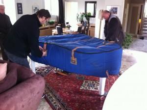 Déménager piano à queue - housse