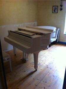 Déménager piano à queue - arrivée